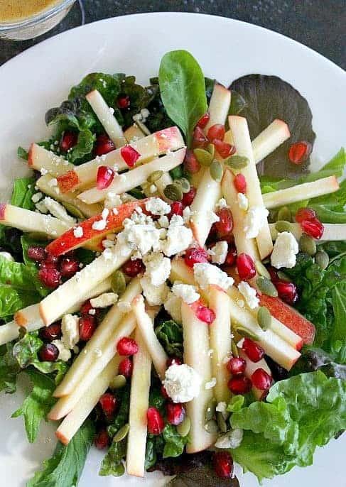 Apple Salad with Apple Cinnamon Vinaigrette - Good Dinner Mom