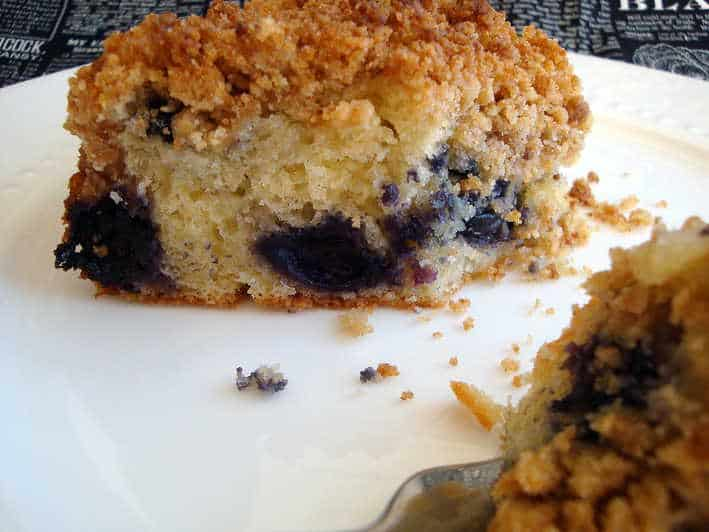 crumb cake or coffee cake with fruit or cream or fruit and cream ...