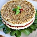 Cheese, Basil and Sun Dried Tomato Torte