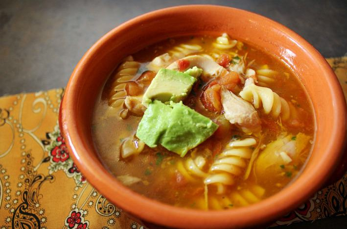 Chicken and Tomato Noodle Soup