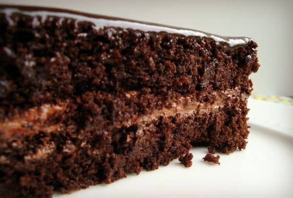 This super moist chocolate cake looks amazing and tastes even better! I almost don't want to mention that it's gluten-free. Made with cooked quinoa in place of any flour. You are going to love it!
