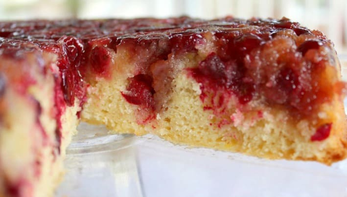 Cranberry Upside Down Cake - Good Dinner Mom