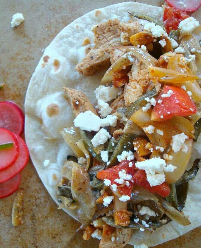 Best Chicken Fajitas with Rajas con Crema - Good Dinner Mom