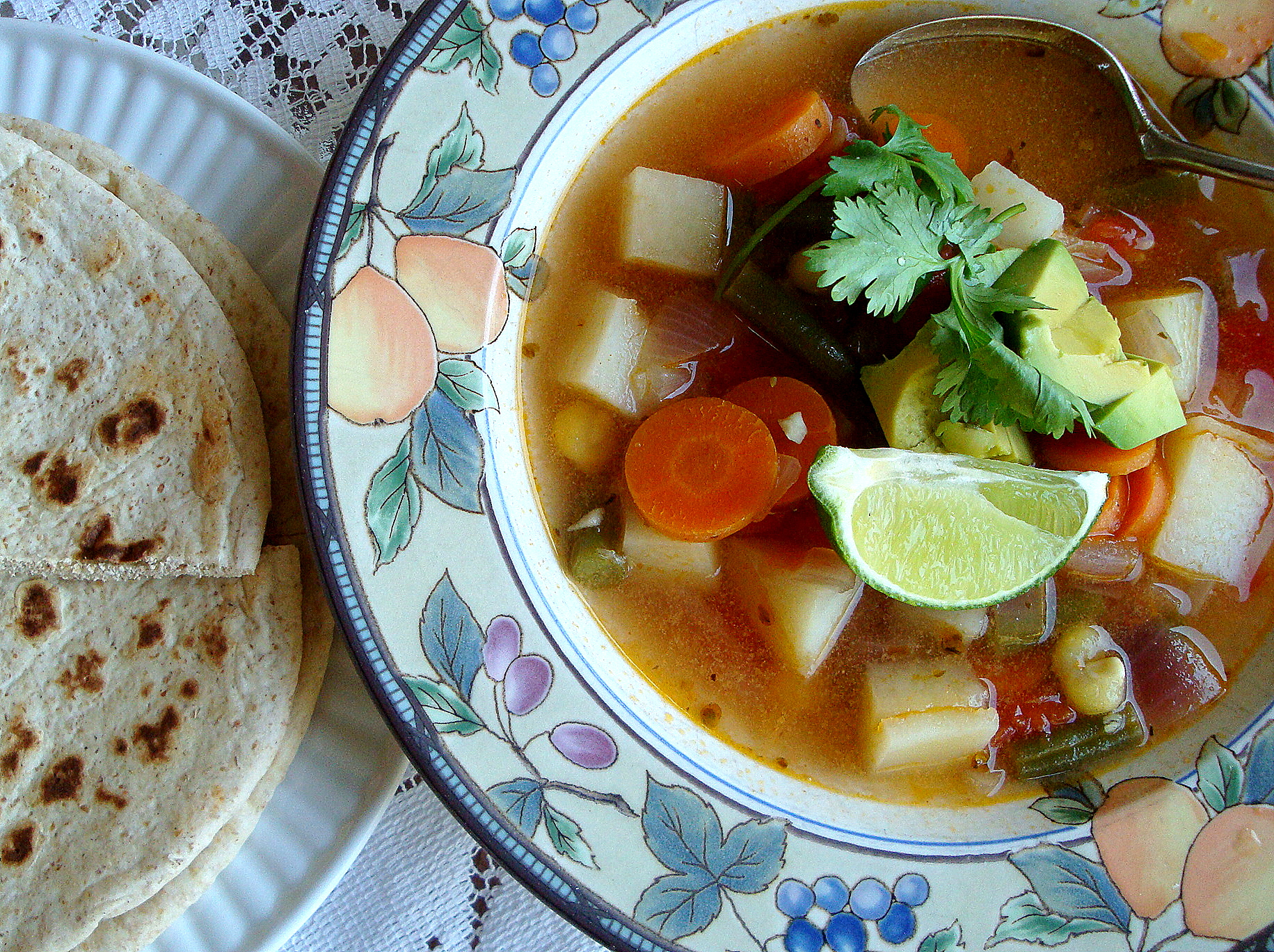 Good Dinner Mom   Mexican Vegetable Soup with Lime and Avocado