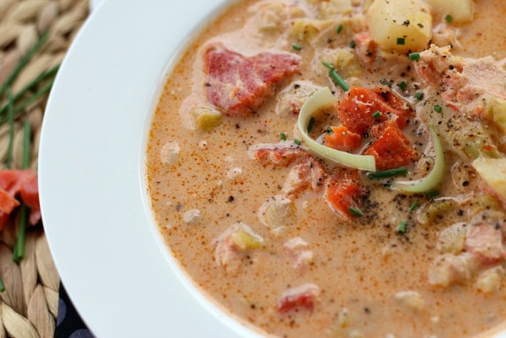 Smoked Salmon Chowder - Good Dinner Mom